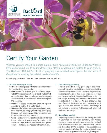 Certify  Your Garden Handout