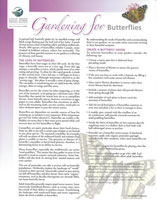 Gardening for Butterflies Handout