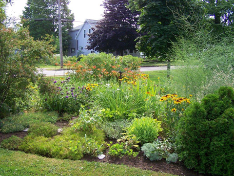 Village of Lawrencetown gardens.  Photo by Charlie Whitman