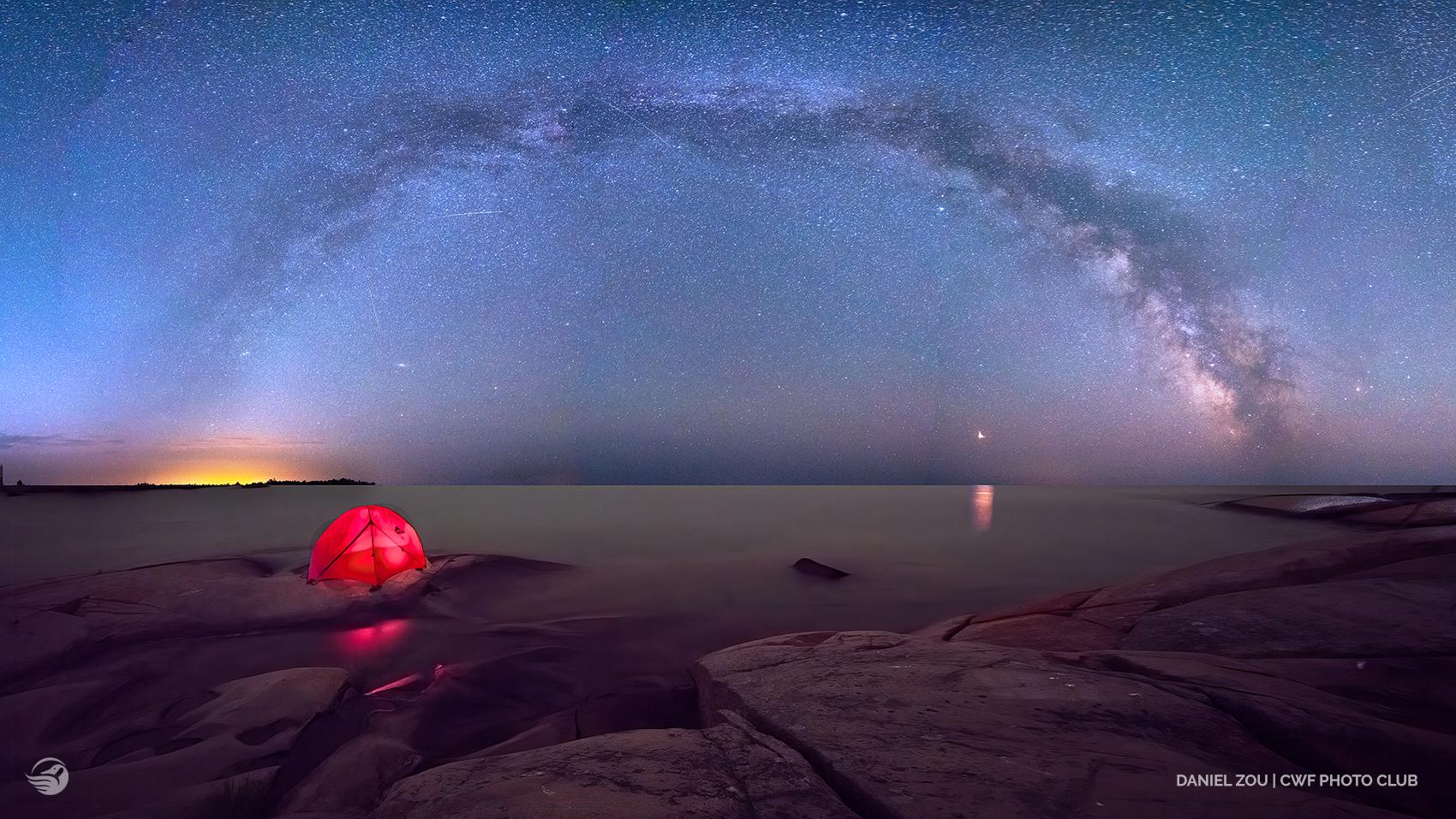 tent starry night
