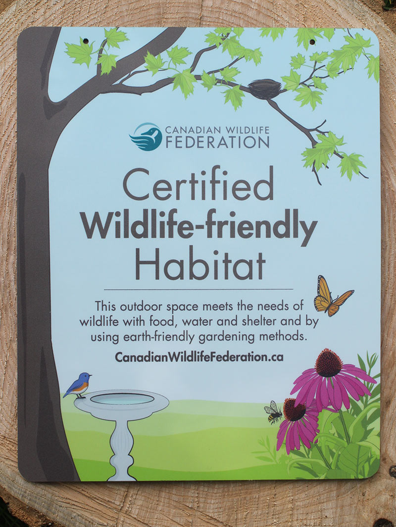 Garden Habitat Certification sign
