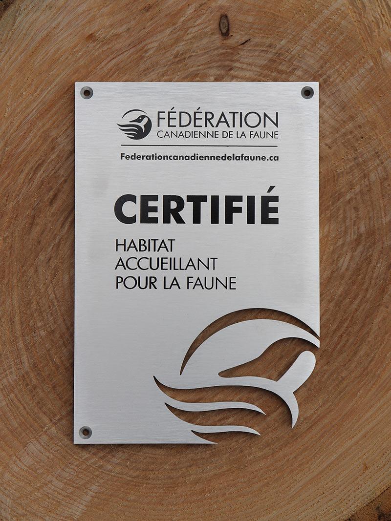 Garden Habitat Certification sign