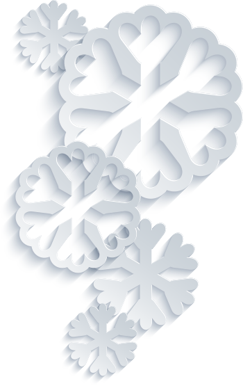 Snowflake cut outs illustration
