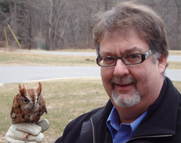 Wade with an owl
