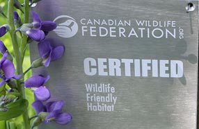 Get Certified! Backyard Habitat Certification Sign