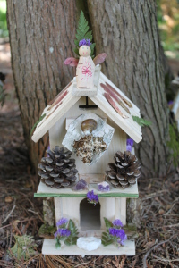 Fairy house at the base of a tree