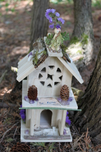Fairy houses outside