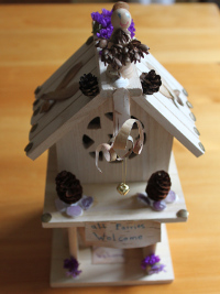 Completed fairy house