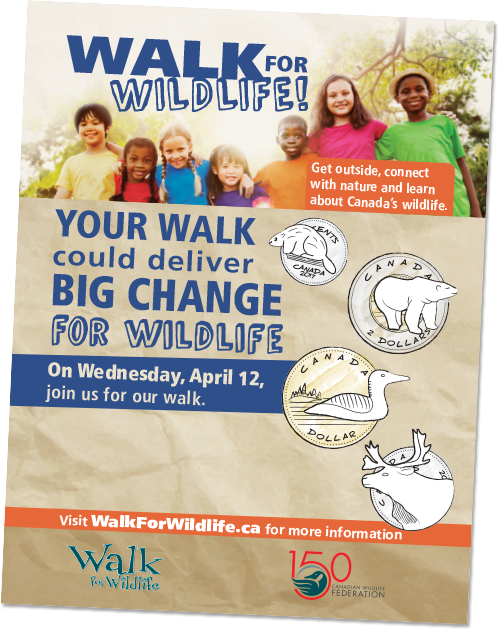 Walk for wildlife poster