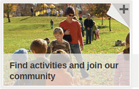 Find activities in our community button