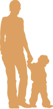 Illustration of Parent walking with child