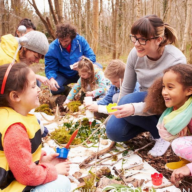 kids outside nature