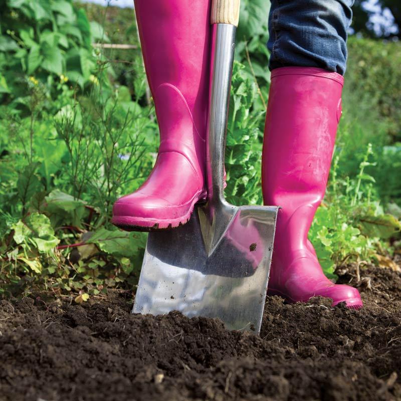 gardening pink boots
