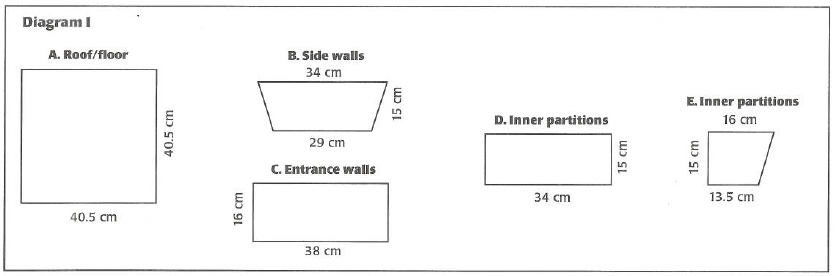 Diagram of how to build a planter box