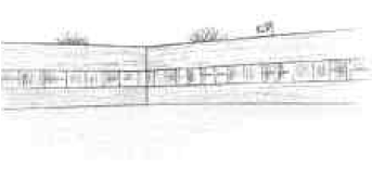 Illustration of a school without a garden